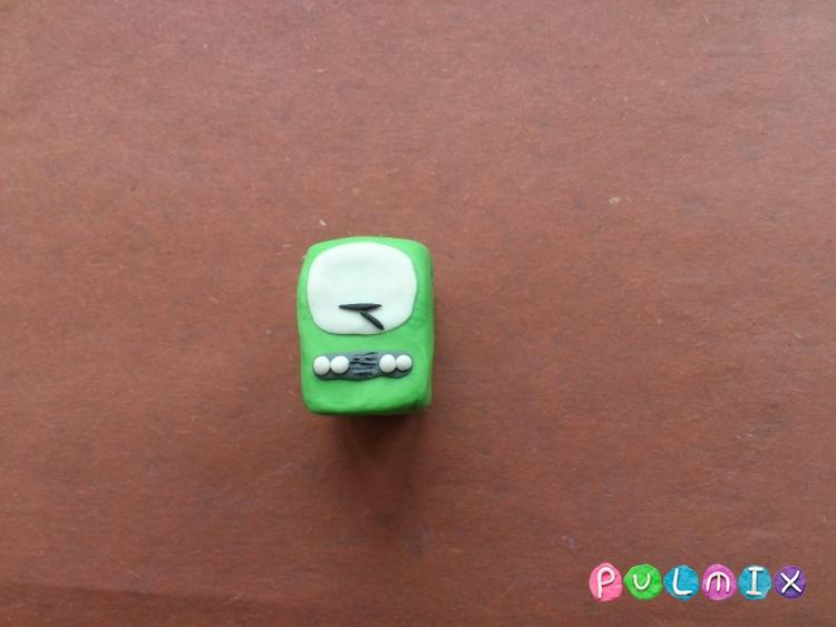 Как легко слепить троллейбус из пластилина фото урок - шаг 3