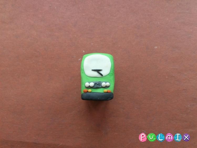 Как легко слепить троллейбус из пластилина фото урок - шаг 4