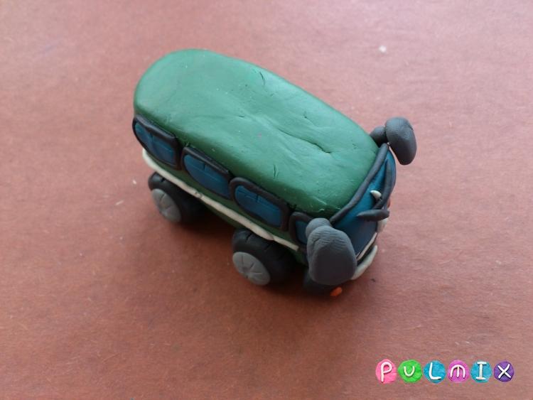 Как слепить автобус из пластилина поэтапно - шаг 10