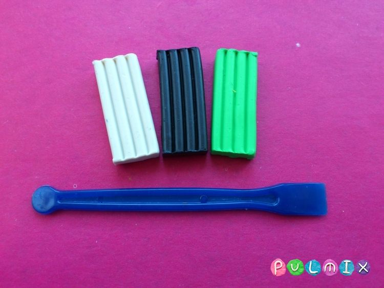 Как слепить фуру из пластилина поэтапно - шаг 1