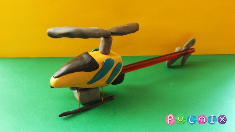 Как слепить игрушечный вертолет из пластилина
