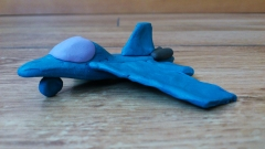 Как слепить из пластилина самолет-истребитель