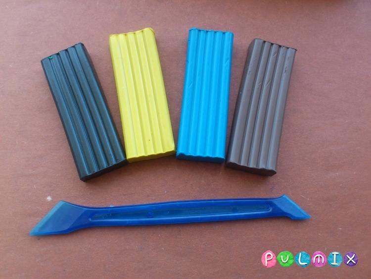 Как слепить экскаватор из пластилина поэтапно - шаг 1