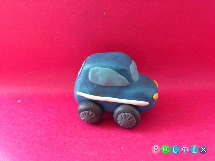 Как сделать из пластилина полицейскую машину 358