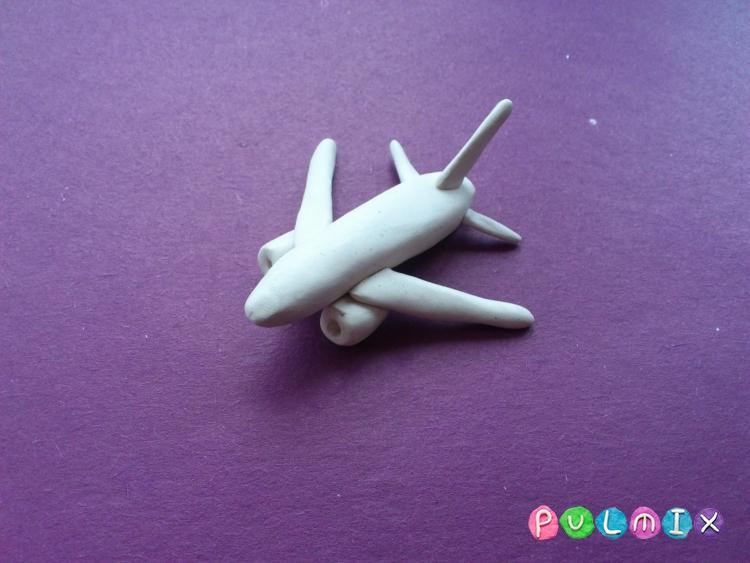 Как слепить самолет Фрегат Экоджет из пластилина - шаг 6