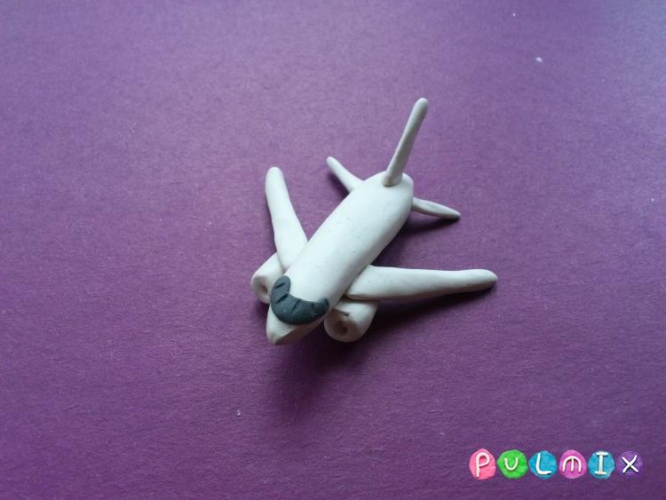 Как слепить самолет Фрегат Экоджет из пластилина - шаг 7