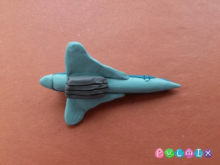Как слепить самолет Ту-144 из пластилина поэтапно - шаг 11