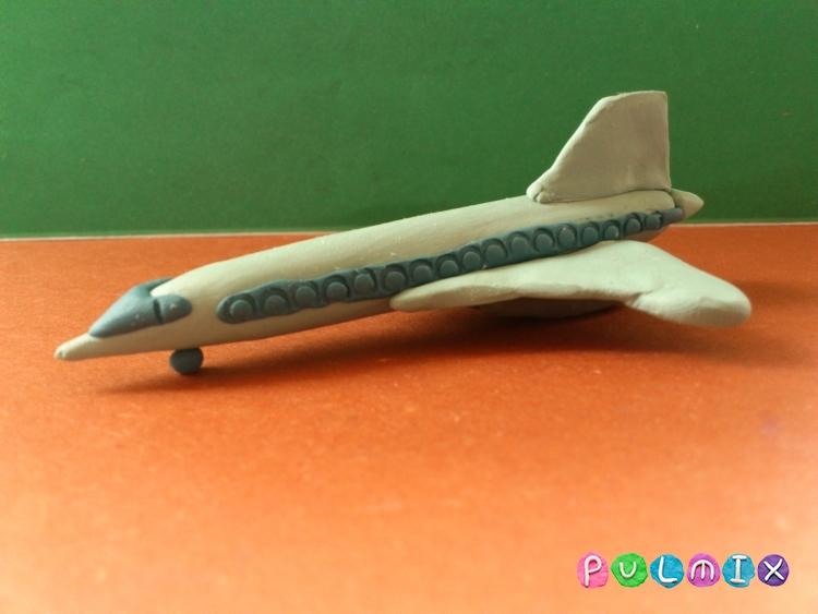 Как слепить самолет Ту-144 из пластилина поэтапно - шаг 12