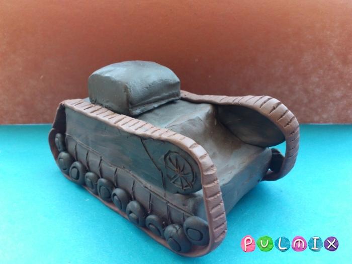 Как слепить танк Черчилль из пластилина поэтапно - шаг 13