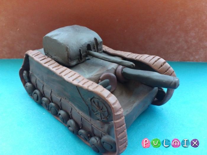 Как слепить танк Черчилль из пластилина поэтапно - шаг 15