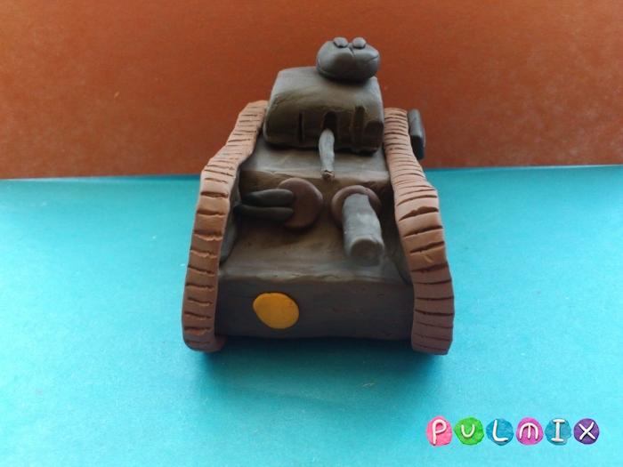 Как слепить танк Черчилль из пластилина поэтапно - шаг 17