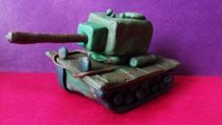 Как слепить танк КВ-2  своими руками