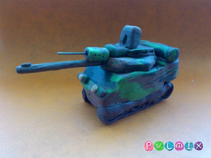 Как слепить танк Леклерк из пластилина - шаг 13