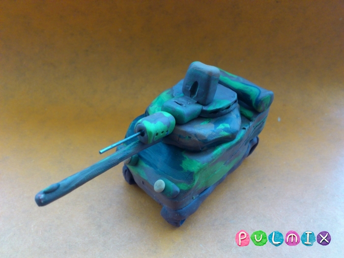 Как слепить танк Леклерк из пластилина - шаг 14