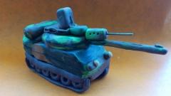 Как сделать танк модели Леклерк из пластилина