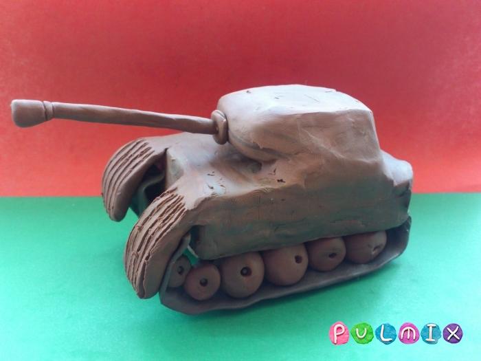 Как слепить танк Пантера из пластилина ребенку - шаг 15