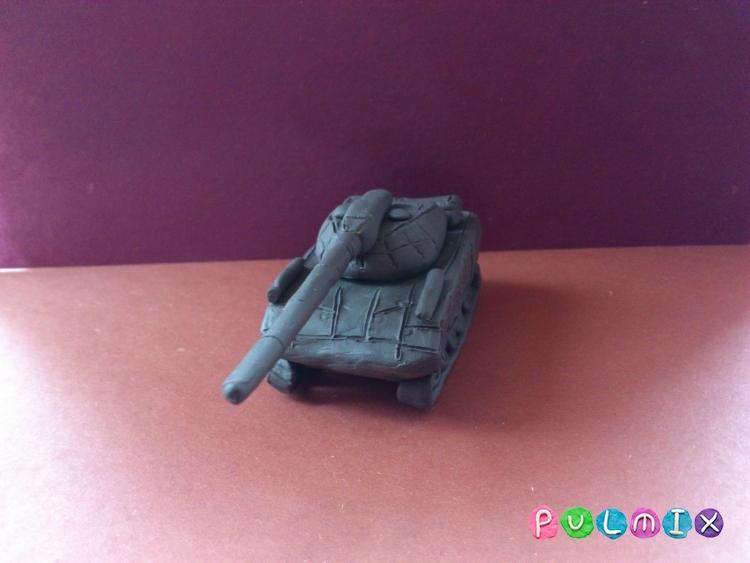 Как слепить танк Т-14 Армата из пластилина поэтапно - шаг 10