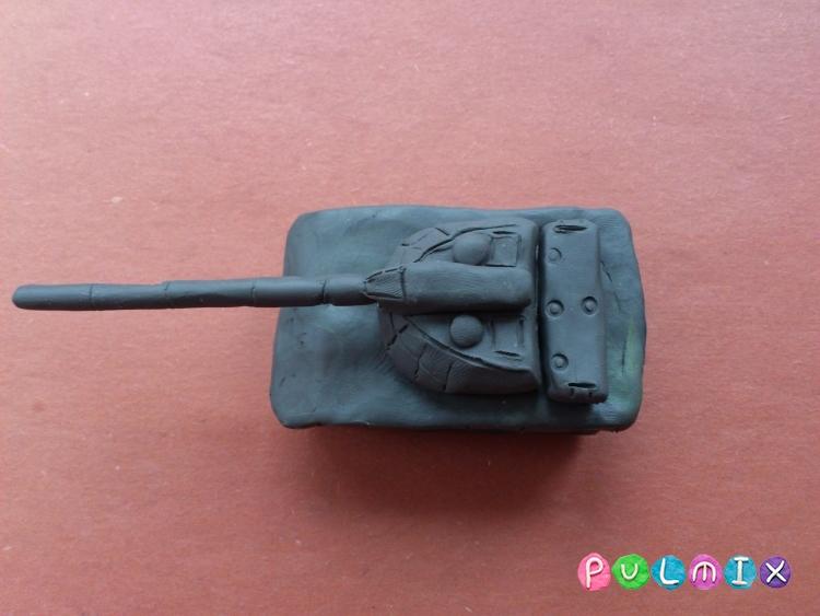 Как слепить танк Т-14 Армата из пластилина поэтапно - шаг 8