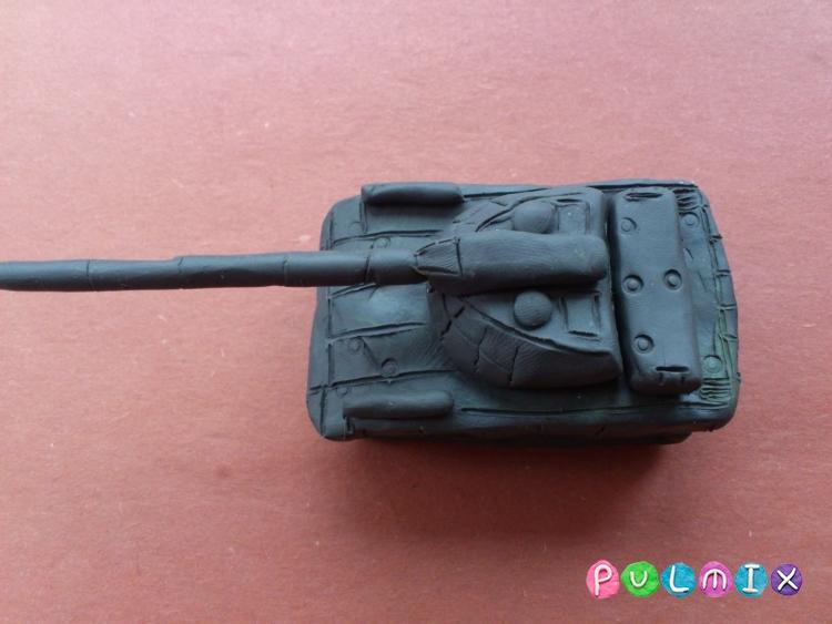Как слепить танк Т-14 Армата из пластилина поэтапно - шаг 9