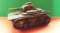 Как слепить танк модели Т-37А из пластилина