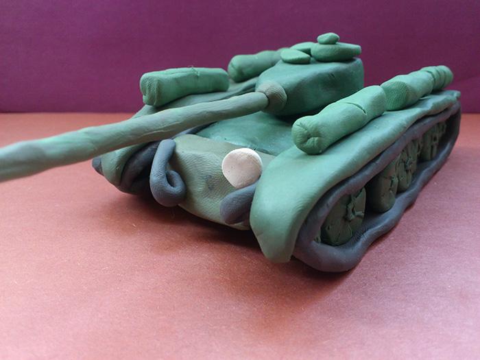 Как слепить танк Т-44 из пластилина пошаговый урок - шаг 19
