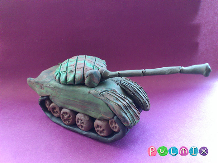 Как слепить танк Т-72 из пластилина поэтапно - шаг 19