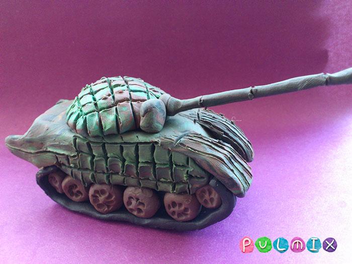 Как слепить танк Т-72 из пластилина поэтапно - шаг 20