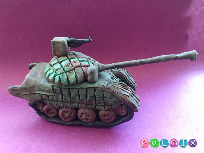 Как слепить танк Т-72 из пластилина поэтапно - шаг 21