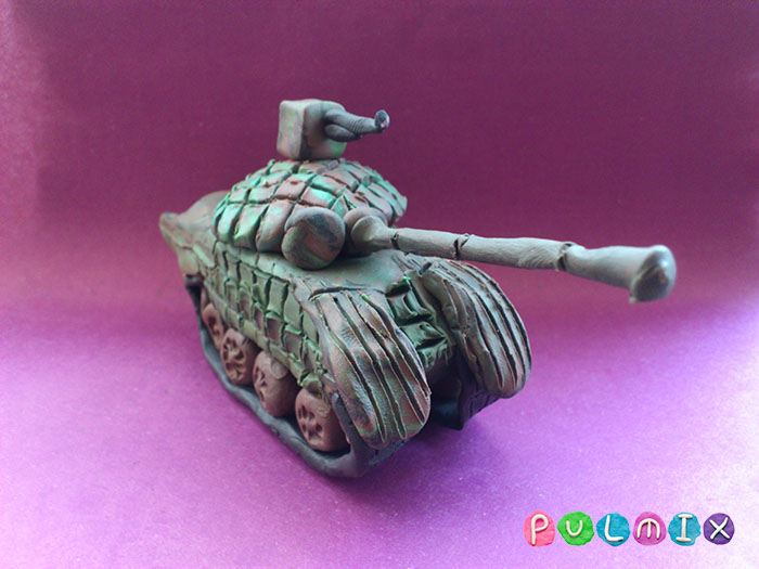 Как слепить танк Т-72 из пластилина поэтапно - шаг 22