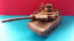 Как слепить танк модели Т-90  своими руками
