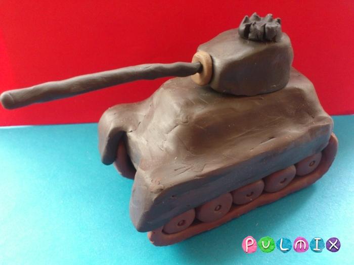 Как слепить танк Тигр из пластилина поэтапно - шаг 13