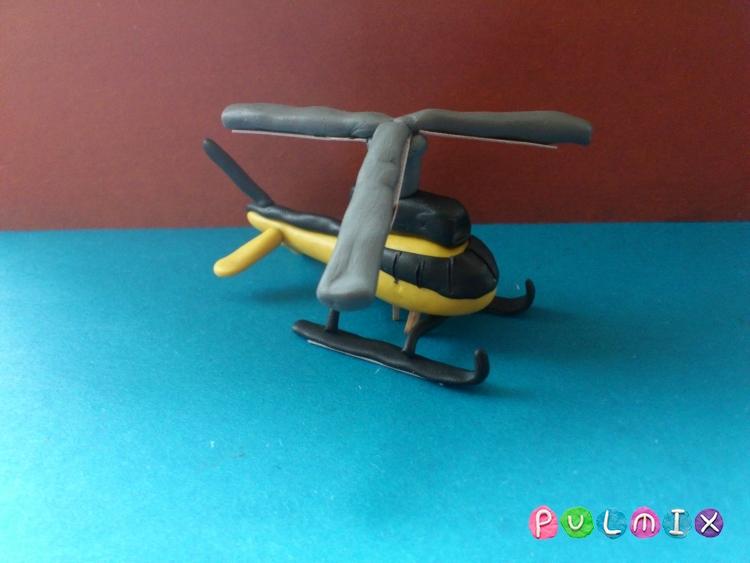 Как слепить вертолет-такси из пластилина - шаг 12