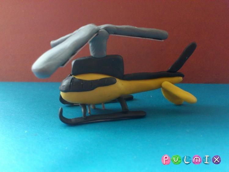 Как слепить вертолет-такси из пластилина - шаг 13