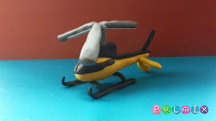 Как сделать вертолет из пластилина 51