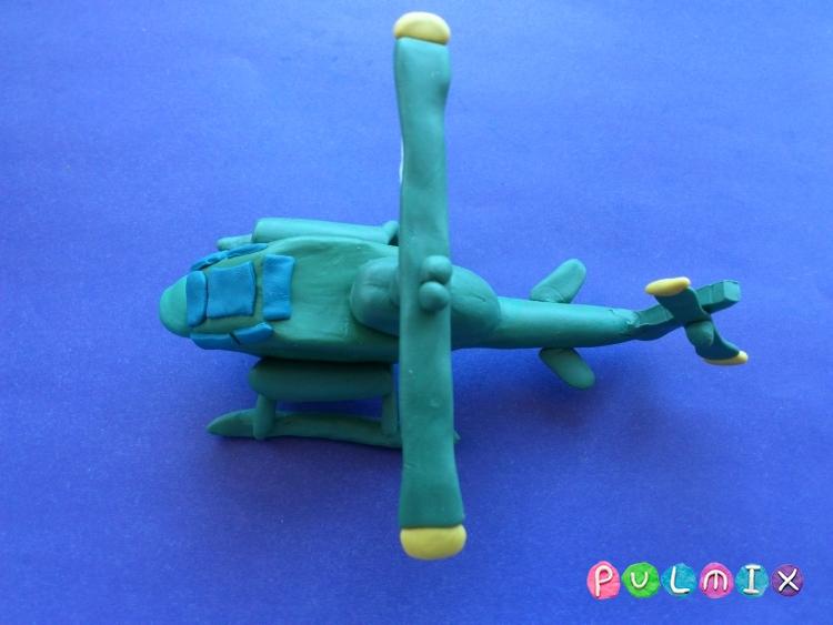 Как слепить вертолет Кобра из пластилина поэтапно - шаг 11