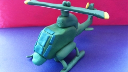Как слепить из пластилина вертолет модели Кобра