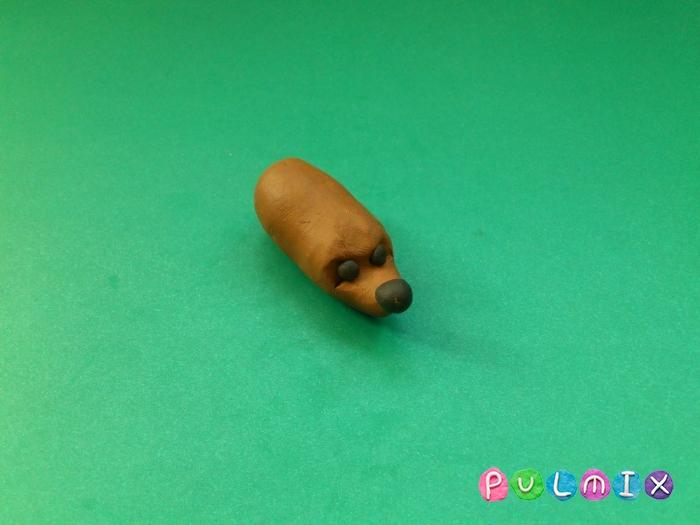 Ежик из пластилина поэтапно с фото - шаг 4