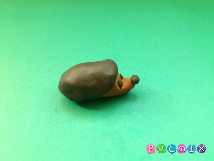 Ежик из пластилина поэтапно с фото - шаг 5