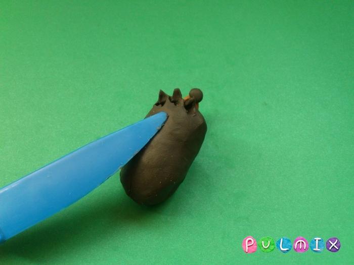 Ежик из пластилина поэтапно с фото - шаг 6