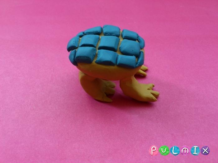 Как лепить Анкилозавра из пластилина фото урок - шаг 11