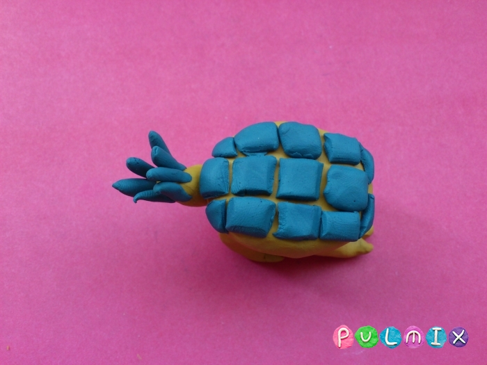 Как лепить Анкилозавра из пластилина фото урок - шаг 12