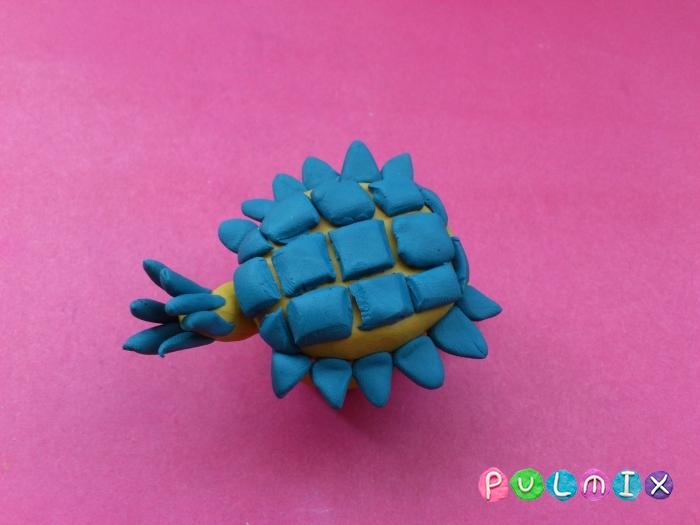 Как лепить Анкилозавра из пластилина фото урок - шаг 13