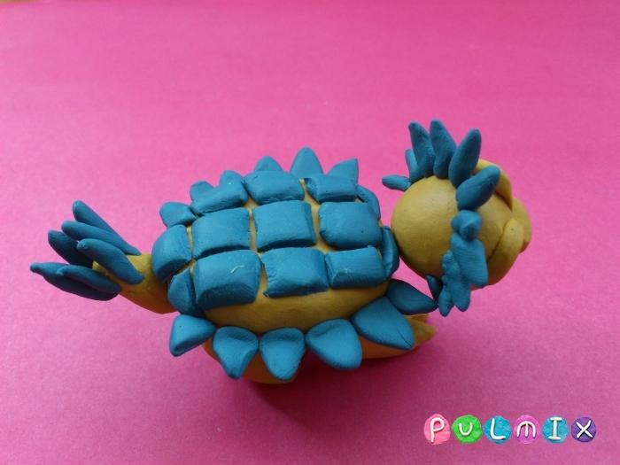Как лепить Анкилозавра из пластилина фото урок - шаг 14
