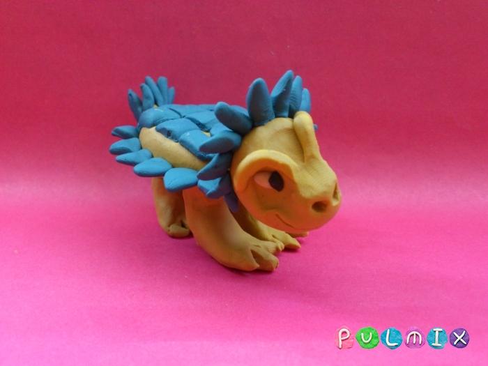 Как лепить Анкилозавра из пластилина фото урок - шаг 15