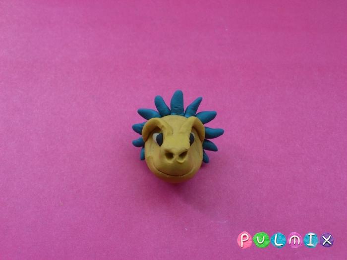 Как лепить Анкилозавра из пластилина фото урок - шаг 5