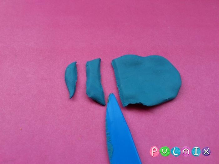 Как лепить Анкилозавра из пластилина фото урок - шаг 7