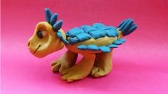 Как лепить Анкилозавра из пластилина фото урок