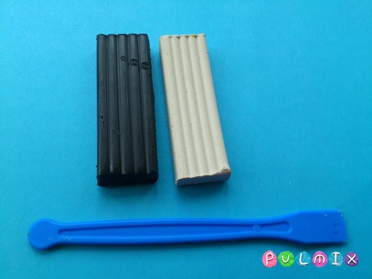 Как сделать аиста из пластилина своими руками - шаг 1