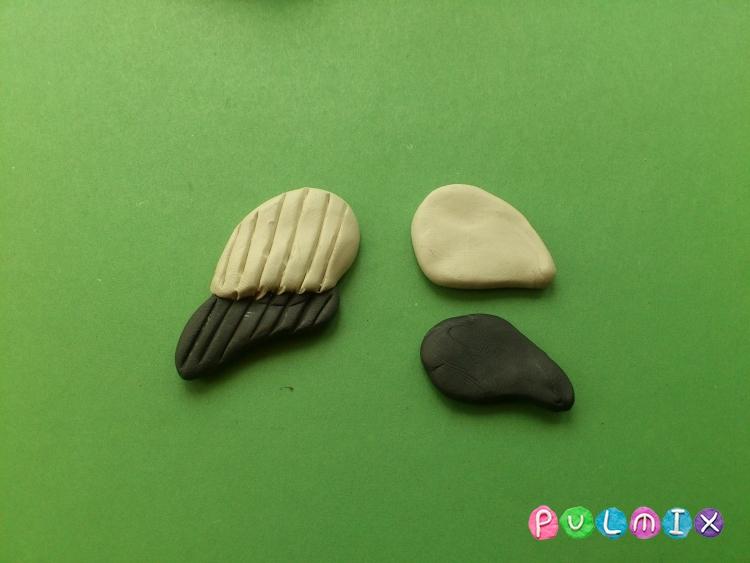 Как сделать аиста из пластилина своими руками - шаг 4