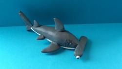 Как слепить акулу-молот из пластилина поэтапно